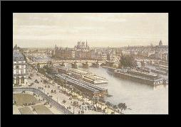 View Of The Seine From The Louvre art print poster with simple frame