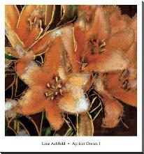 Apricot Dream I art print poster with block mounting