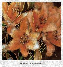 Apricot Dream I art print poster transferred to canvas