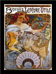 Lefevre Utile art print poster with simple frame