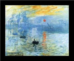 Sunrise 1872 art print poster with simple frame