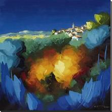 La Colline Incandescente art print poster with block mounting