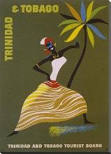 Trinidad and Tobago art print poster with block mounting