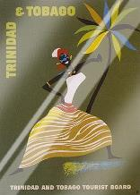 Trinidad and Tobago art print poster with laminate