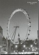 Ferris Wheel, London art print poster with block mounting