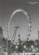 Ferris Wheel, London art print poster transferred to canvas