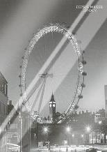 Ferris Wheel, London art print poster with laminate