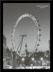 Ferris Wheel, London art print poster with simple frame