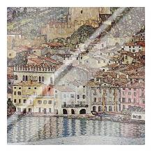 Malcesine Sul Garda art print poster with laminate