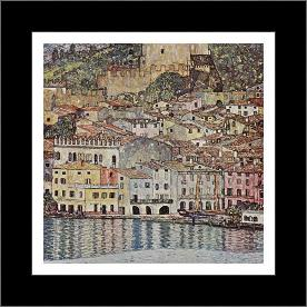 Malcesine Sul Garda art print poster with simple frame
