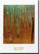 Beechwood Forest art print poster with block mounting