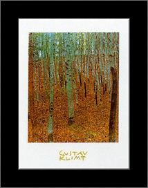 Beechwood Forest art print poster with simple frame