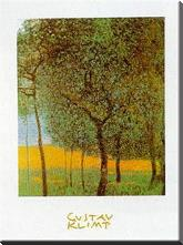 Fruit Trees art print poster with block mounting