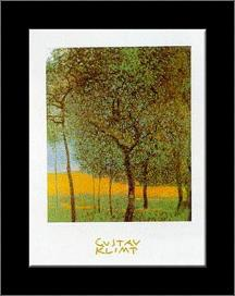 Fruit Trees art print poster with simple frame