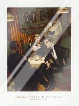 Cigar, Cognac in the Salon art print poster with laminate