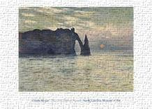 Cliff, Etretat, Sunset, 1883 art print poster transferred to canvas