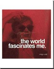 World Fascinates Me art print poster with block mounting