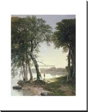 Early Morning At Cold Spring, 1850 art print poster with block mounting