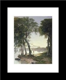 Early Morning At Cold Spring, 1850 art print poster with simple frame