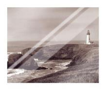 Yaquina Light art print poster with laminate