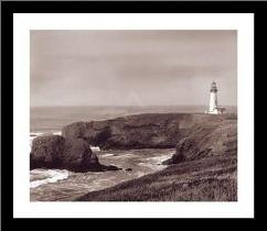 Yaquina Light art print poster with simple frame