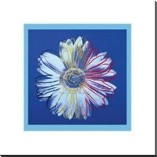 Daisy, C1982 (Blue On Blue) art print poster with block mounting