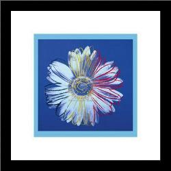 Daisy, C1982 (Blue On Blue) art print poster with simple frame