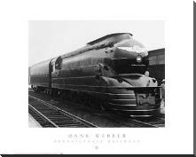 Pennsylvania Railroad art print poster with block mounting