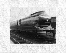Pennsylvania Railroad art print poster transferred to canvas