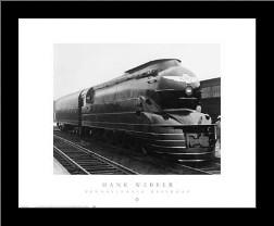 Pennsylvania Railroad art print poster with simple frame