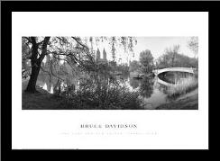 Lake And Bow Bridge, Central Park, 1992 art print poster with simple frame