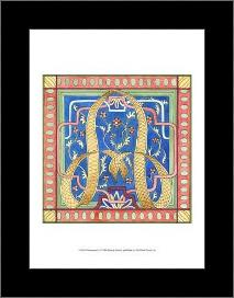 Ornamental a art print poster with simple frame
