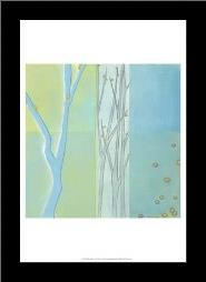 Blue Arbor II art print poster with simple frame