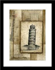 Passport To Pisa art print poster with simple frame