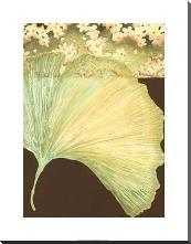 Filigree Ginkgo II art print poster with block mounting