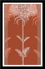 Efflorescence IV art print poster with simple frame