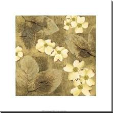 Sun-Kissed Dogwoods I art print poster with block mounting