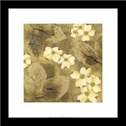 Sun-Kissed Dogwoods I art print poster with simple frame
