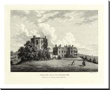 Chilham Castle In Kent art print poster with block mounting