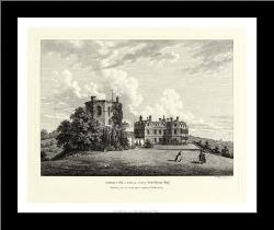Chilham Castle In Kent art print poster with simple frame