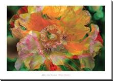 Flower Painter art print poster with block mounting