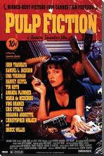 Pulp Fiction - Uma art print poster with block mounting