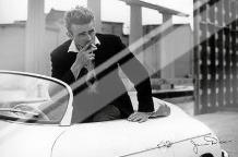 James Dean (White Car) art print poster with laminate