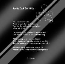 How To Cook Good Kids art print poster with laminate