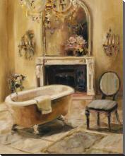 French Bath I art print poster with block mounting