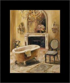 French Bath I art print poster with simple frame