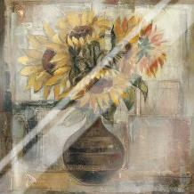 Sunflowers In Bronze Vase art print poster with laminate