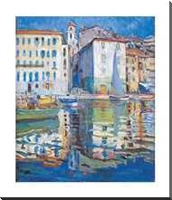Ville franche - Sur Mer art print poster with block mounting