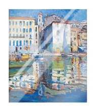 Ville franche - Sur Mer art print poster with laminate