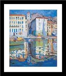 Ville franche - Sur Mer art print poster with simple frame